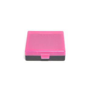 Berrys Ammo Box 380/9mm Snap Hinged 100 #001 Pink/Black 50/Cs