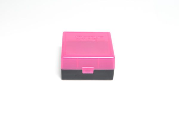 Berrys Ammo Box 222/223 Snap Hinged 100 #005 Pink/Black 50/Cs