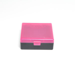Berrys Ammo Box 38/357 Snap Hinged 100 #003 Pink/Black 50/Cs
