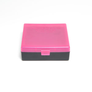 Berrys Ammo Box 44 Spl/Mag Snap Hinged 100 Pink/Black 50/Cs