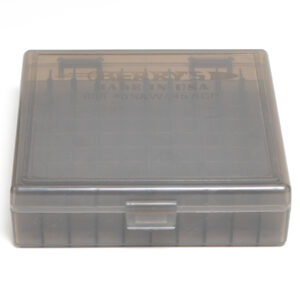 Berrys Ammo Box 10mm/45Acp Snap Hinged 100 Smoke 50/Cs