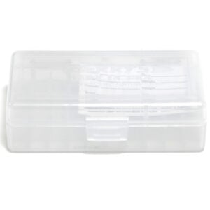 Berrys Ammo Box 380/9mm Hinged Top 50 #401 Clear 50/Cs