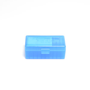 Berrys Ammo Box 38/357 Hinged Top 50 #403 Blue 50/Cs