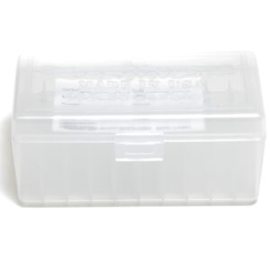 Berrys Ammo Box 22 Hornet 30 M1 Hinged Top Clear 50/Cs