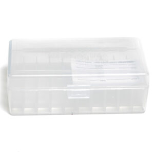 Berrys Ammo Box 44 Spl/Mag Hinged Top 50 Clear 50/Cs