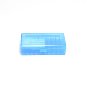 Berrys Ammo Box 10mm/45 Acp Hinged Top 50 Blue 50/Cs