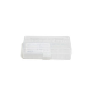 Berrys Ammo Box 10mm/45 Acp Hinged Top 50 Clear 50/Cs