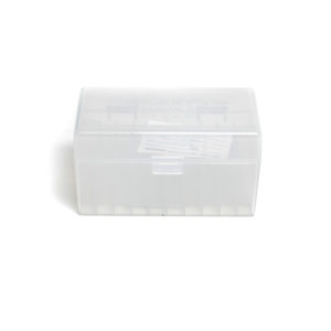 Berrys Ammo Box 243/308 Hinged Top 50 #409 Clear 50/Cs