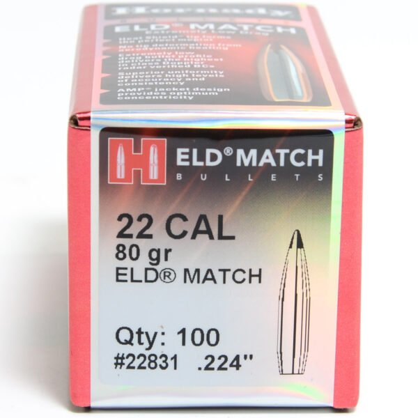 Hornady .224 / 22 80 Grain ELD-M (Extremely Low Drag Match) (100)