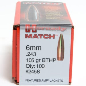 Hornady .243 / 6mm 105 Grain Hollow Point Boat Tail Match (100)