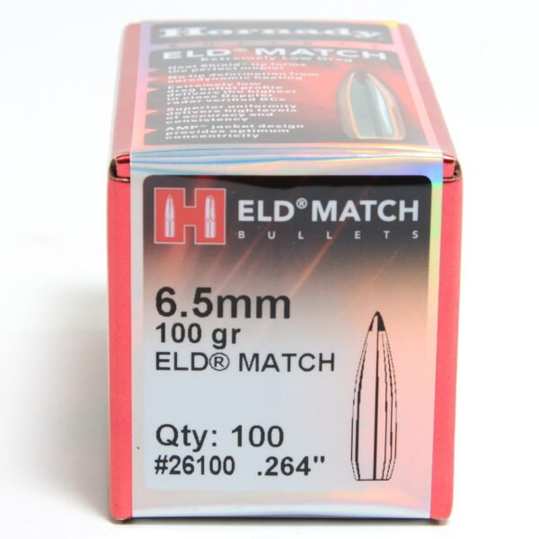 Hornady .264 / 6.5mm 100 Grain ELD-M (Extremely Low Drag Match) (100)