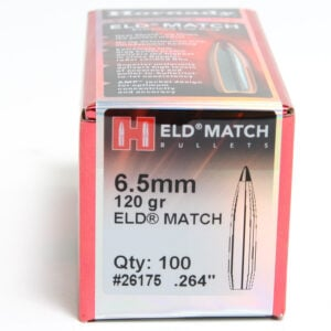 Hornady .264 / 6.5mm 120 Grain ELD-M (Extremely Low Drag Match) (100)
