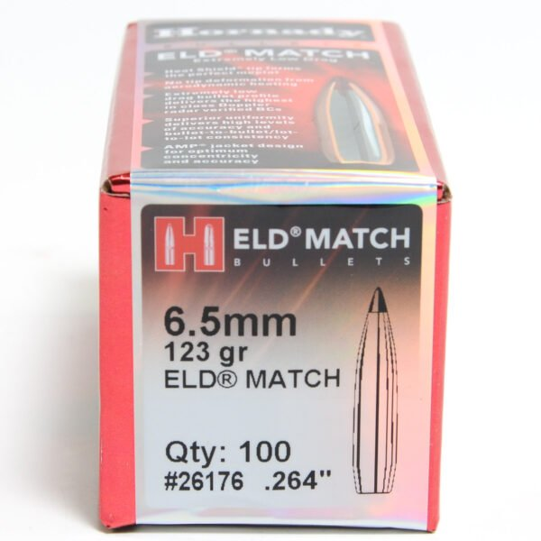 Hornady .264 / 6.5mm 123 Grain ELD-M (Extremely Low Drag Match) (100)