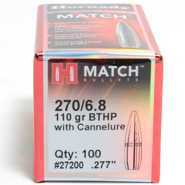 Hornady .277 / 6.8mm 110 Grain Hollow Point Boat Tail (100)