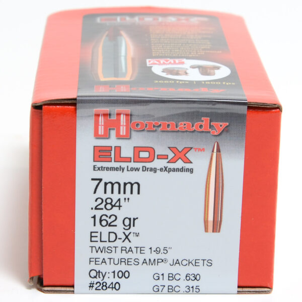 Hornady .284 / 7mm 162 Grain ELD-X (Extremely Low Drag Hunting) (100)