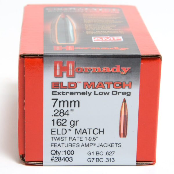 Hornady .284 / 7mm 162 Grain ELD-M (Extremely Low Drag Match) (100)
