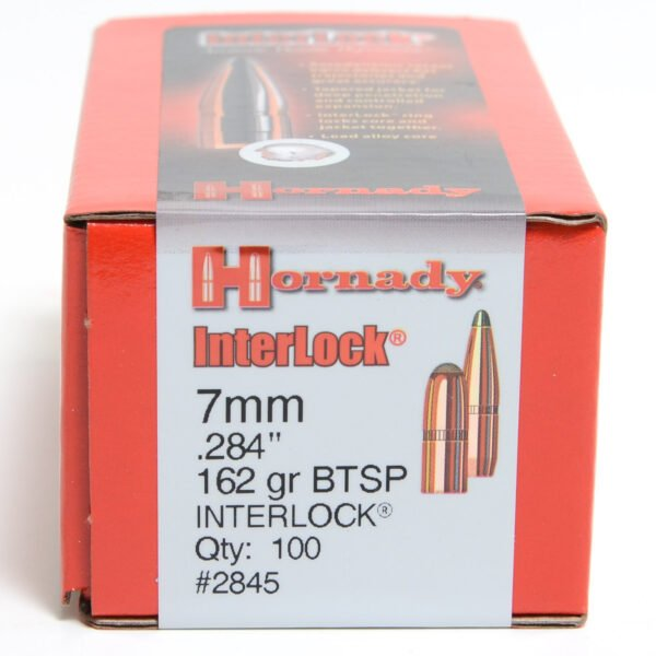 Hornady .284 / 7mm 162 Grain Soft Point Boat Tail (100)