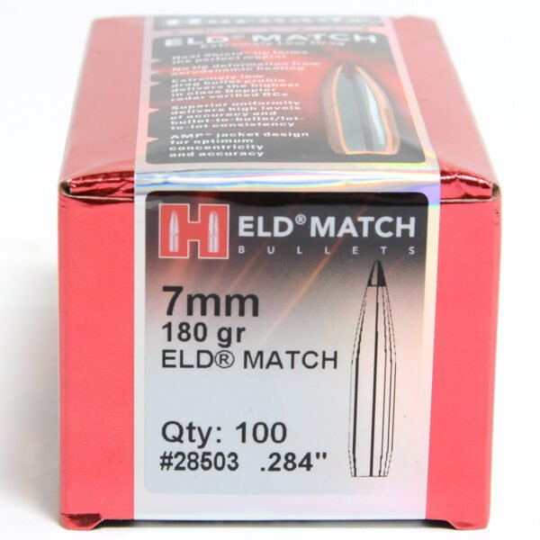 Hornady .284 / 7mm 180 Grain ELD-M (Extremely Low Drag Match) (100)
