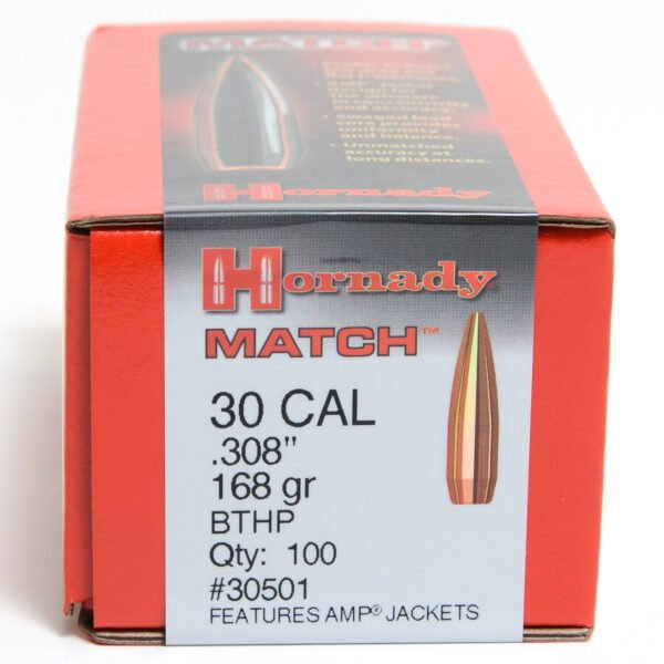 Hornady .308 / 30 168 Grain Hollow Point Boat Tail Match (100)