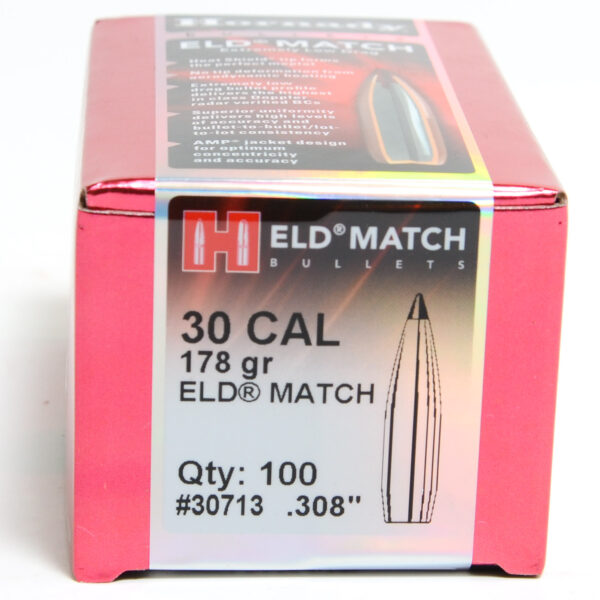 Hornady .308 / 30 178 Grain ELD-M (Extremely Low Drag Match) (100)