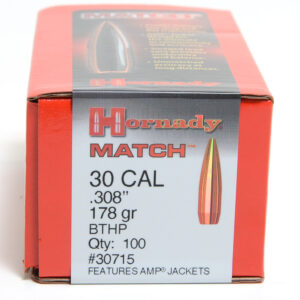 Hornady .308 / 30 178 Grain Hollow Point Boat Tail Match (100)