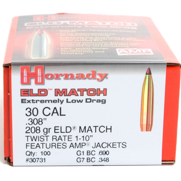Hornady .308 / 30 208 Grain ELD-M (Extremely Low Drag Match) (100)