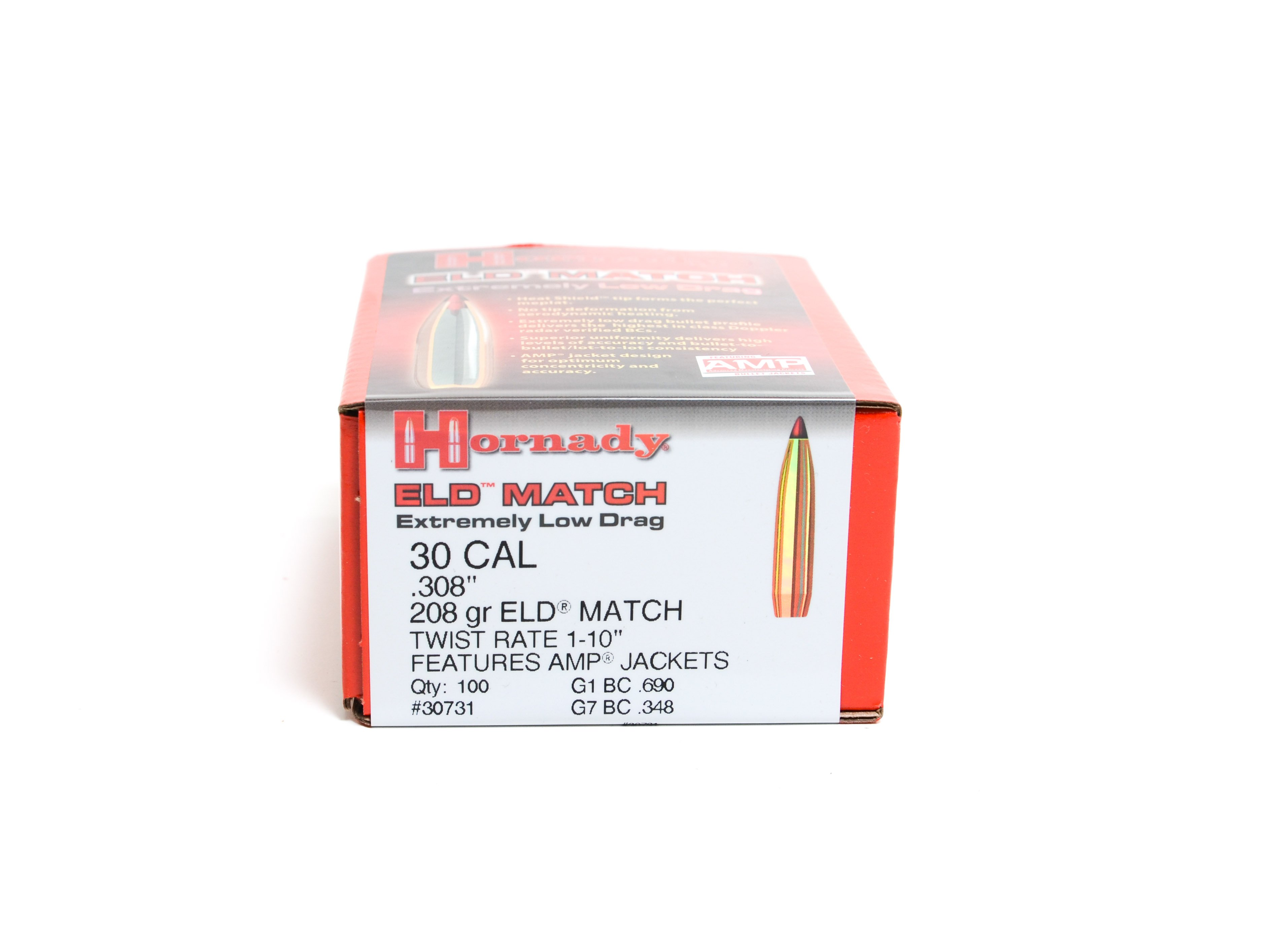 Hornady  308 / 30 208 Grain ELD-M (Extremely Low Drag Match) (100)