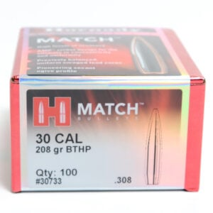 Hornady .308 / 30 208 Grain Hollow Point Boat Tail Match (100)