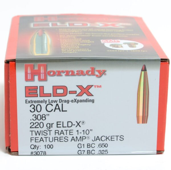 Hornady .308 / 30 220 Grain ELD-X (Extremely Low Drag Hunting) (100)