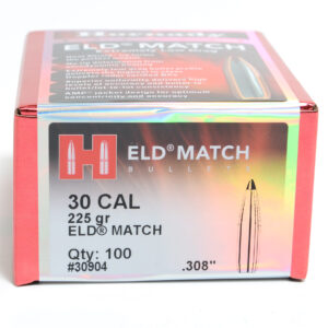 Hornady .308 / 30 225 Grain ELD-M (Extremely Low Drag Match) (100)