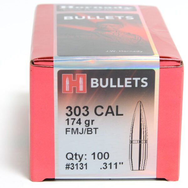 Hornady .310 / 303 174 Grain Full Metal Jacket/Boat Tail (100)