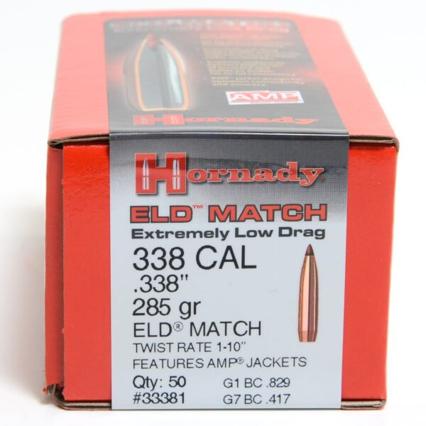 Hornady .338 / 338 285 Grain ELD-M (Extremely Low Drag Match) (50)