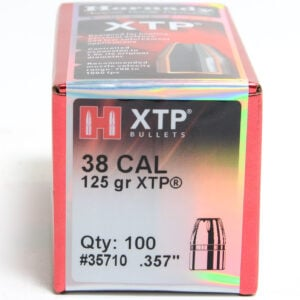 Hornady .357 / 38 125 Grain Hollow Point/XTP (eXtreme Terminal Performance) (100)