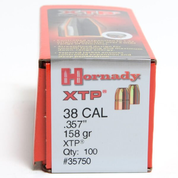 Hornady .357 / 38 158 Grain Hollow Point/XTP (eXtreme Terminal Performance) (100)