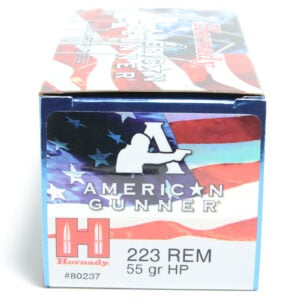 Hornady Ammo 223 Rem 55 Grain Hollow Point American Gunner (50)