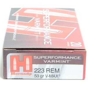 Hornady Ammo 223 Rem 53 Grain V-MAX Superformance (20)