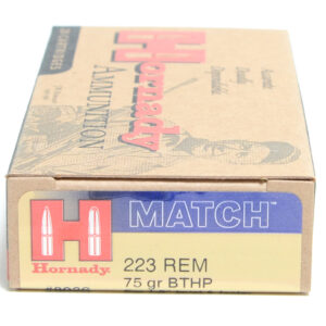 Hornady Ammo 223 Rem 75 Grain Hollow Point Boat Tail Match (20)