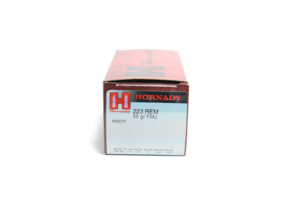 Hornady Ammo 223 55 Grain Full Metal Jacket Boat Tail (50)