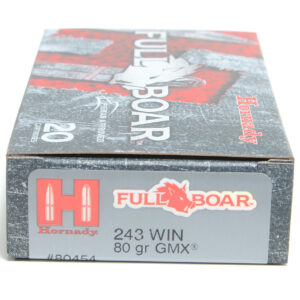 Hornady Ammo 243 Win 80 Grain GMX (MonoFlex) Full Boar (20) 10/Cs