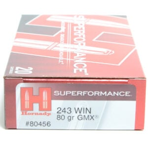 Hornady Ammo 243 Win 80 Grain GMX (MonoFlex) Superformance (20)