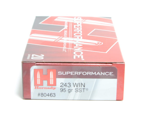 Hornady Ammo 243 Win 95 Grain SST (Super Shock Tip) Superformance (20)