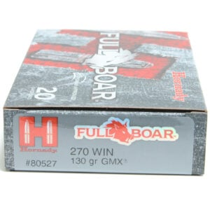 Hornady Ammo 270 Win 130 Grain GMX (MonoFlex) Full Boar (20) 10/Cs