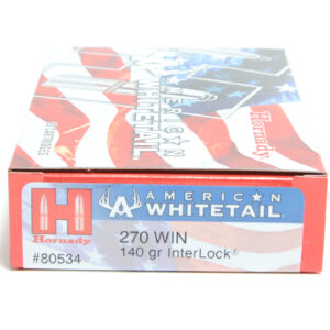 Hornady Ammo 270 Win 140 Grain Interlock American Whitetail (20)
