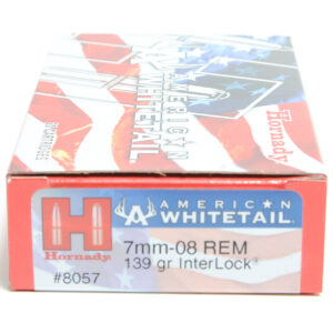 Hornady Ammo 7mm-08 Rem 139 Grain Interlock American Whitetail (20)