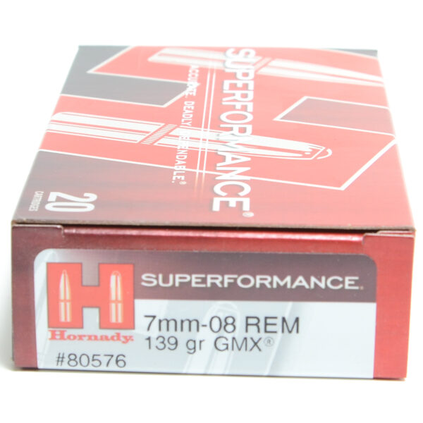 Hornady Ammo 7mm-08 Rem 139 Grain GMX (MonoFlex) Superformance(20)