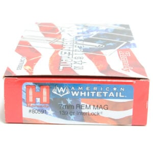 Hornady Ammo 7mm Rem Mag 139 Grain Interlock American Whitetail (20)
