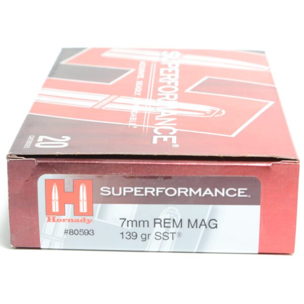 Hornady Ammo 7mm Rem Mag 139 Grain SST (Super Shock Tip) Superformance