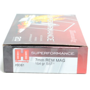 Hornady Ammo 7mm Rem Mag 154 Grain SST (Super Shock Tip) Superformance