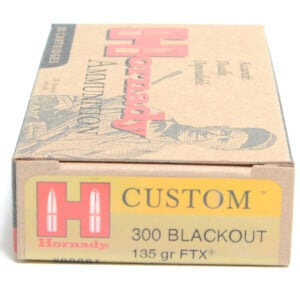 Hornady Ammo 300 Blackout 135 Grain FTX (Flex Tip) (20)