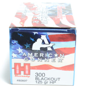 Hornady Ammo 300 Blackout 125 Grain Hollow Point American Gunner (20)